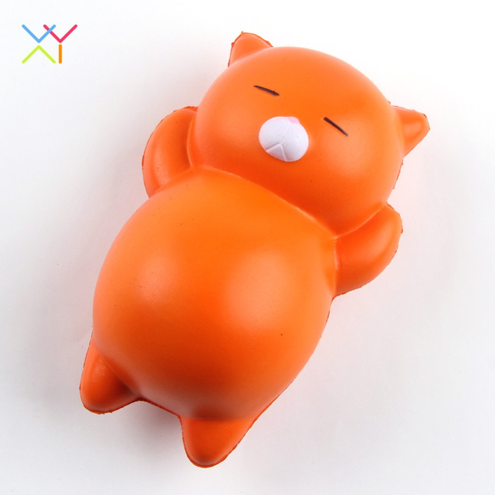 Hoe selling cat squishy slow rising toy, soft pu squishy stress relief toys