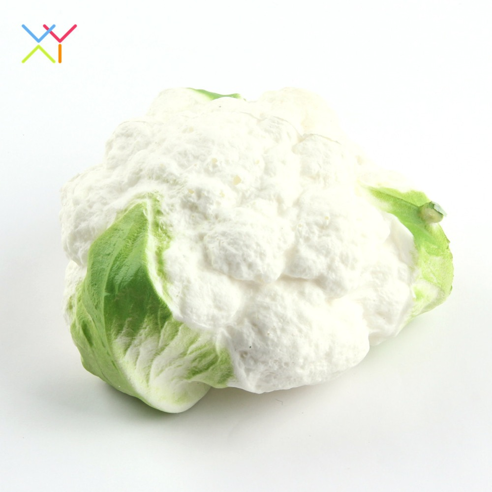 Newest product squishy vegetable cauliflower soft slow rising squishy toy