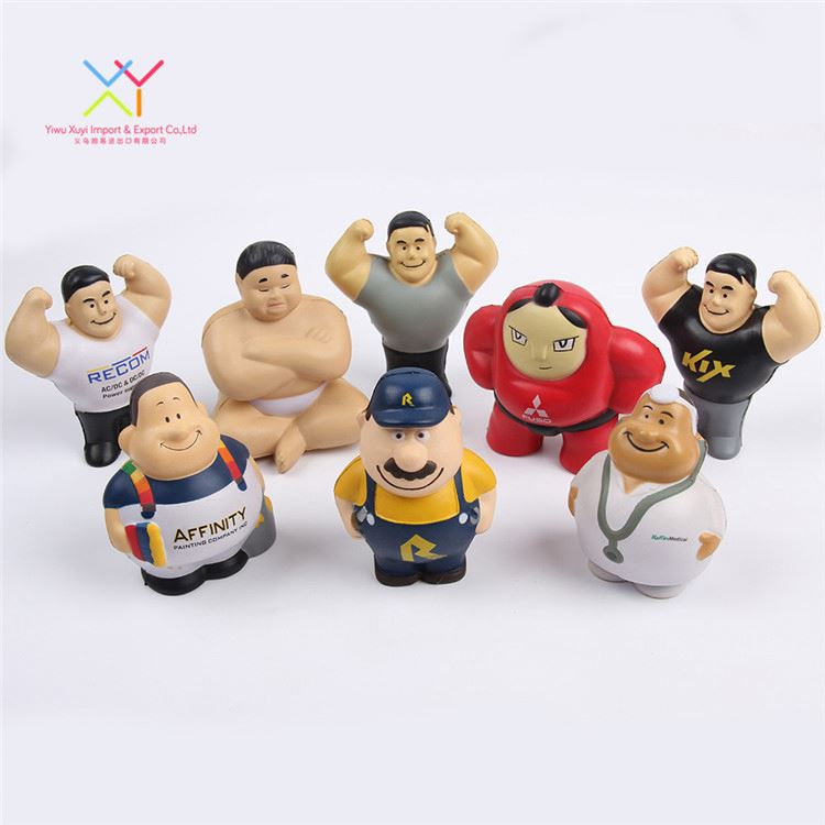 Customized Cartoon Character Stress Ball, Variety of Popular Designs Anti Stress Balls