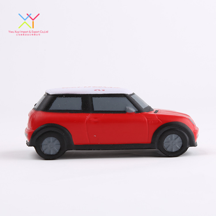 Promotional customized soft stress ball, small red car antistress stress ball