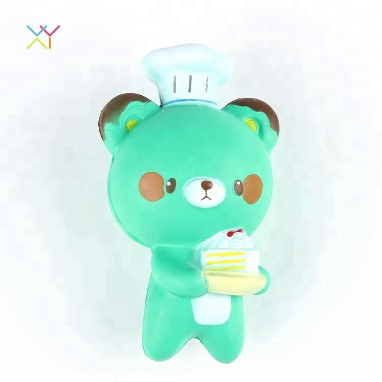 Kawaii green squishy ball bear toys soft slow rising squishies